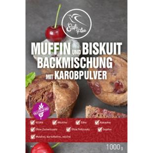 Safi Free Muffin und Biskuit Backmischung mit Karobpulver vegan 1000 g