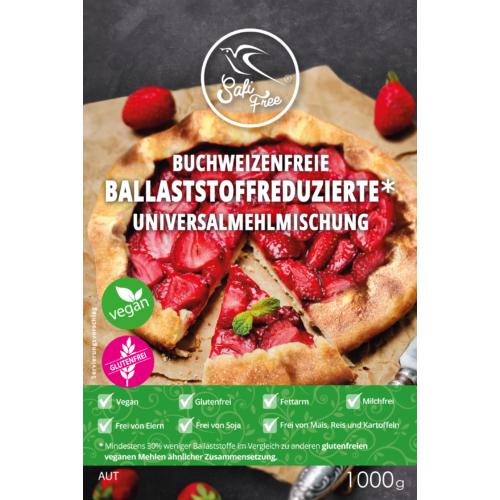 Safi Free Buchweizenfreie, ballaststoffreduzierte * Universalmehlmischung 1000g
