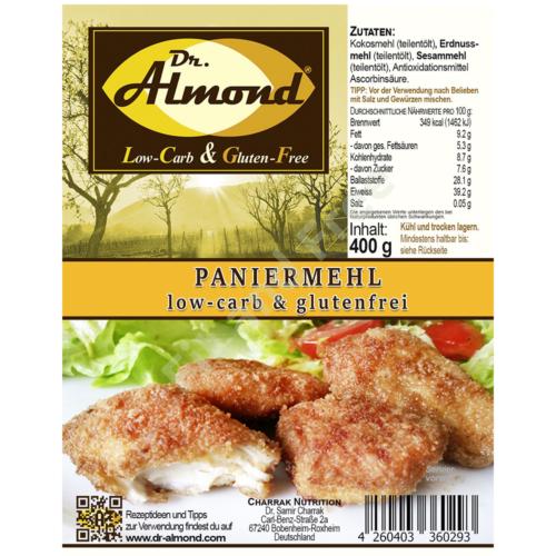 Paniermehl Low Carb & Glutenfrei 400 g Dr. Almond
