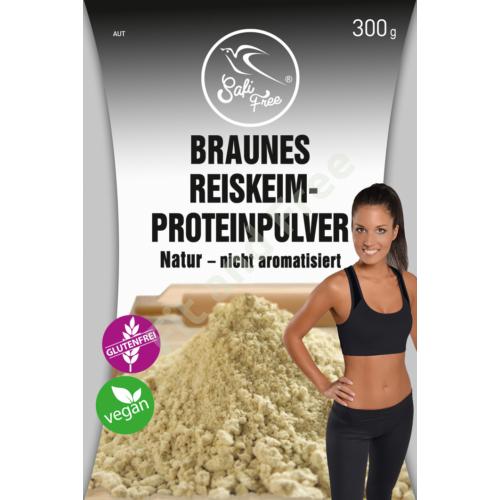 Safi Free Braunes Reiskeim-Proteinpulver Natur – nicht aromatisiert 300 g