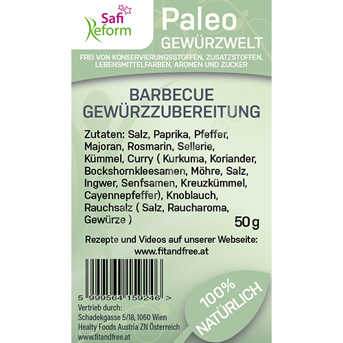 Safi Reform Paleo Barbecue Gewürzzubereitung 50 g