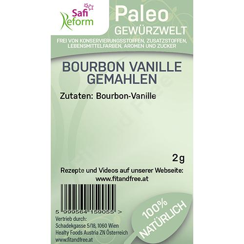 Safi Reform Paleo Bourbon Vanille gemahlen 2 g