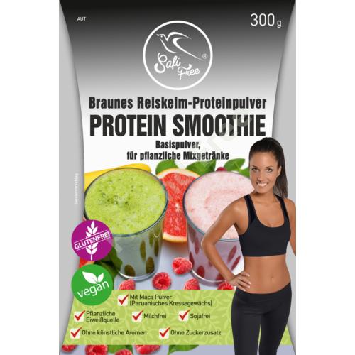 Safi Free Braunes Reiskeim-Proteinpulver PROTEIN SMOOTHIE Basispulver, für pflanzliche Mixgetränke 300 g