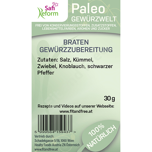 Safi Reform Paleo Braten Gewürzzubereitung 30 g