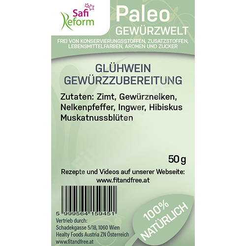 Safi Reform Paleo Glühwein Gewürzzubereitung 50 g