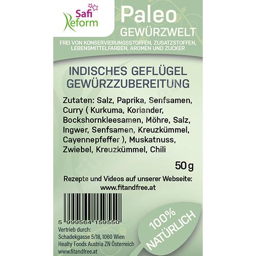 Safi Reform Paleo Indisches Geflügel Gewürzzubereitung 50 g