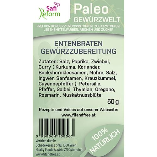 Safi Reform Paleo Entenbraten Gewürzzubereitung 50 g