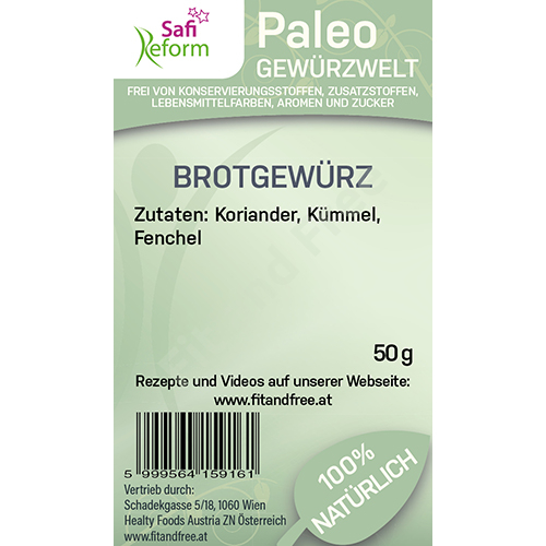Safi Reform Paleo Brotgewürz 50 g