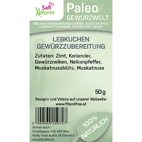 Safi Reform Paleo Lebkuchen Gewürzzubereitung 50 g