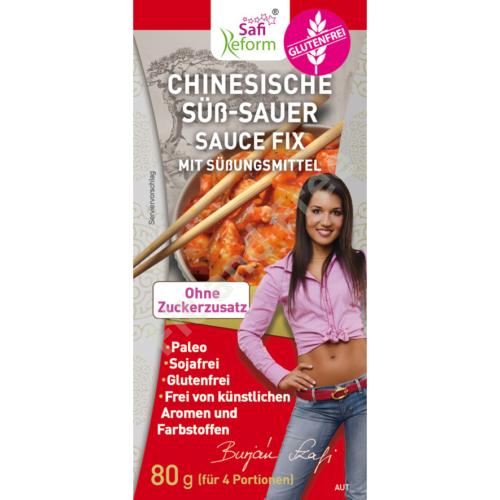 Safi Reform Chinesische Süß-Sauer Sauce Fix mit Süßungsmittel 80 g