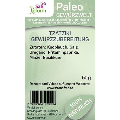Safi Reform Paleo Tzatziki Gewürzzubereitung 50 g