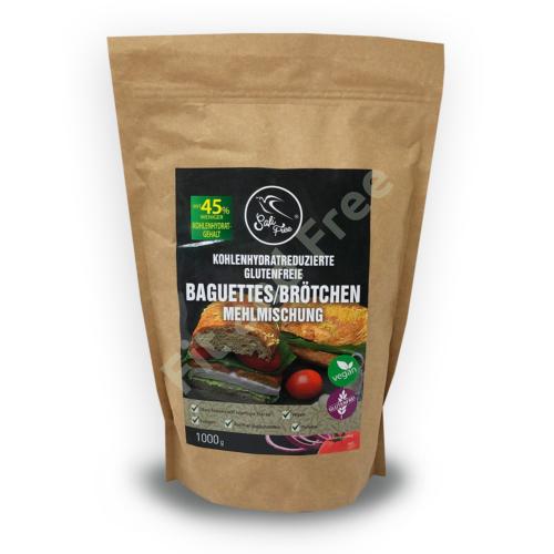 Safi Free Kohlenhydratreduzierte glutenfreie Baguettes/Brötchen Mehlmischung 1000 g