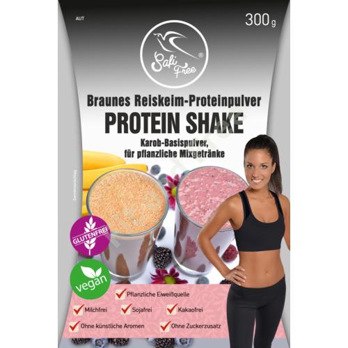 Safi Free Braunes Reiskeim-Proteinpulver PROTEIN SHAKE Karob-Basispulver, für pflanzliche Mixgetränke 300 g